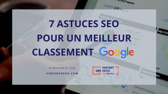 7 astuces seo pour un meilleur classement google